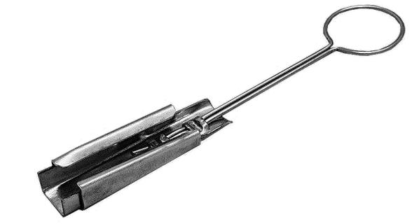 Узел крепления поддерживающий ук-п-01бу предназначен для крепления спиральных зажимов, для оптического кабеля типа