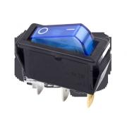 24a9e2bebf75 Выключатель клавишный синий с подсветкой 250V 15A (3c) On-Off (RWB-404,  SC-791, IRS-101-1C)
