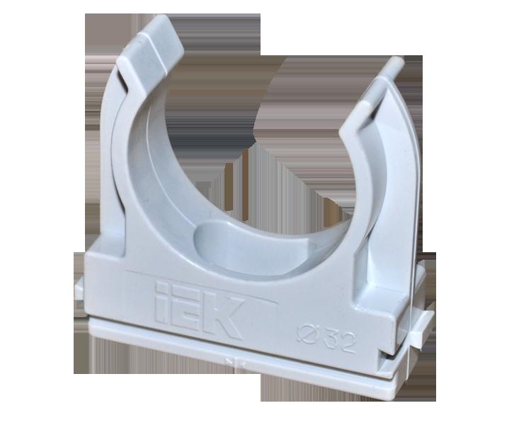 IEK-держатель для труб CF32, d=32 мм, с защелкой- Трубы гофрированные- Крепеж- Каталог товаров- Cедьмая система